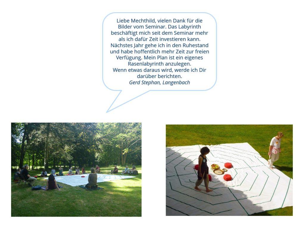 Bilderspaziergang Mechthild Messer Labyrinth Seminare